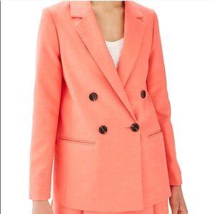 Topshop coral blazer